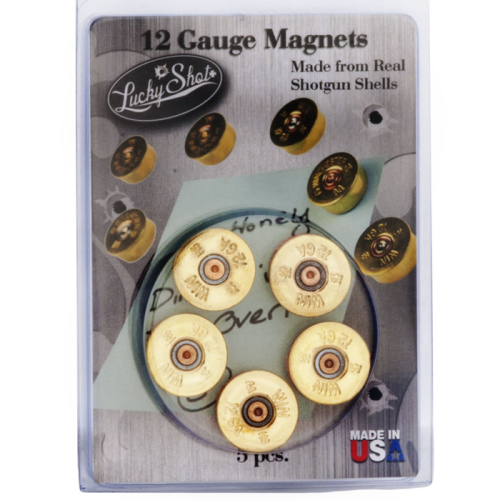 Lucky Shot 12ga Bullet Magnets