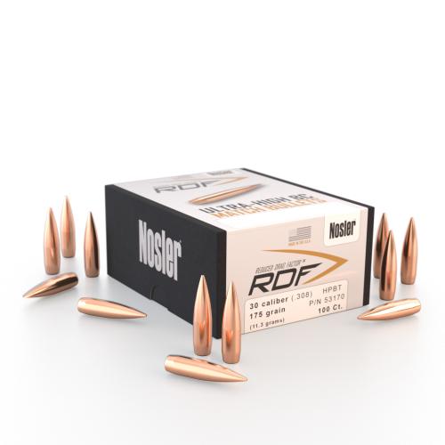 Nosler RDF 30 175 HPBT Bullets (100 Ct)