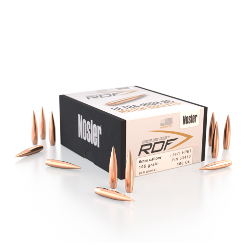 Nosler RDF 6mm 105 HPBT Bullets (500 Ct)