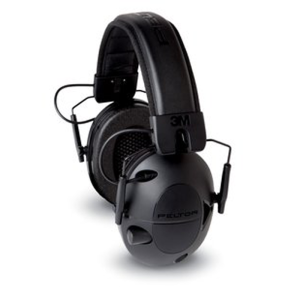 Peltor Digital Tactical 100 Electronic Earmuffs, Black