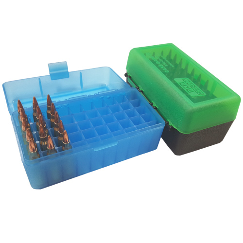 Ammo Box 50 Round Flip-Top 22-250 6mm PPC 7mm BR