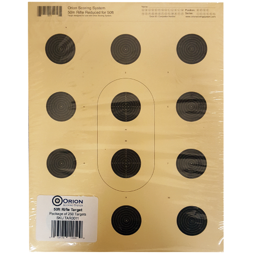 Orion 12 Bull 50ft Smallbore Rifle Target
