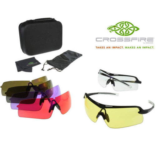 Radians Crossfire Doubleshot Shooting Glasses 6 Lens Kit