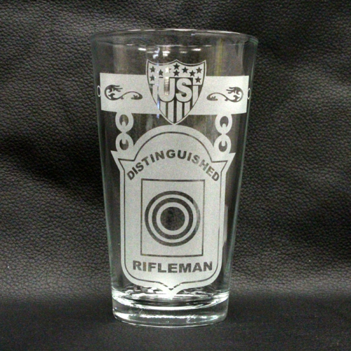 Etched Glass Iced Tea Tumbler
