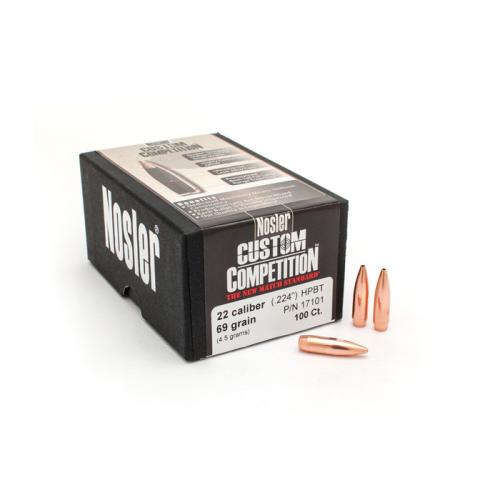 Nosler 22 Cal 69 Gr HPBT Bullets (100 Ct)