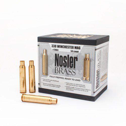 Nosler Brass 338 Winchester Magnum (50 Ct)