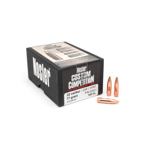 Nosler 22 Cal 77 Gr HPBT Bullets (100 Ct)