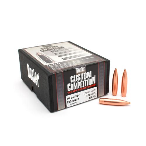 Nosler 30 Cal 220 Gr HPBT Bullets (100 Ct)