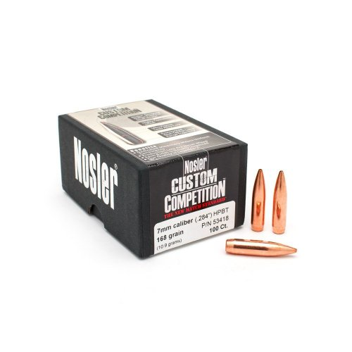 Nosler 7mm 168 Gr HPBT Bullets (100 Ct)