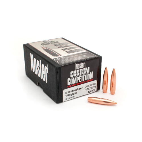 Nosler 6.5mm 140 Gr HPBT Bullets (100 Ct)