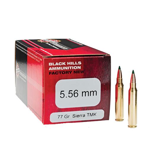 Black Hills TMK 5.56 77 Gr. Sierra Ammo