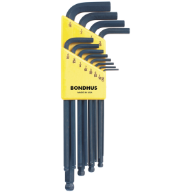 "Bondhus Ball End Hex Key Wrench Set .50""-5/16"""