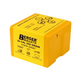 Berger 30 Cal 200 Gr Hybrid Target Bullets (100 Ct)