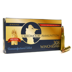 REMAN .308 165 GR. CREEDMOOR AMMUNITION (PRECISION HUNTING)