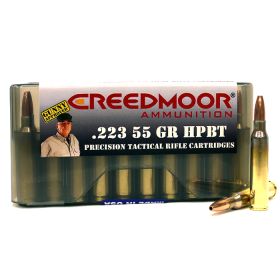 CREEDMOOR .223 55 GR HPBT AMMUNITION (20 CT) IN MTM BOX
