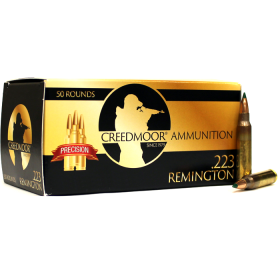 CREEDMOOR .223 77 GR TMK AMMUNITION IN CREEDMOOR BRASS