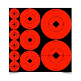 """B/C TARGET SPOTS ASSTD 1"""",2"""",3"""" (110 TGTS)"""