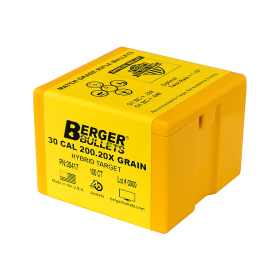 Berger 30 Cal 200.20X Gr Hybrid Target Bullets (100 Ct)
