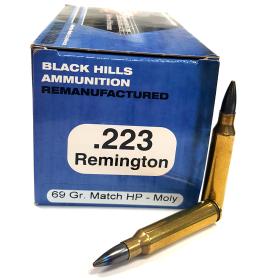 BLACK HILLS AMMO .223 69 GR. REMAN MOLY