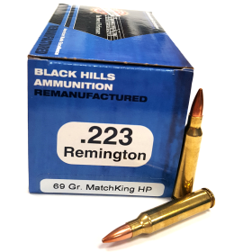BLACK HILLS AMMO .223 69 GR. REMAN