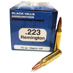 Black Hills Ammo .223 75 Gr. Reman