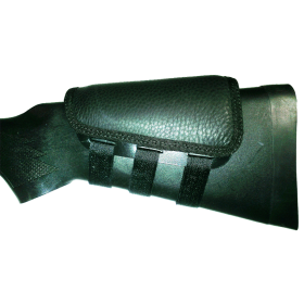 RIFLE/SHOTGUN CHEEKREST (BLACK LEATHER)