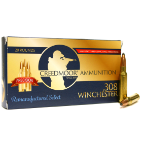 REMAN .308 150 GR CREEDMOOR AMMUNITION (PRECISION HUNTING)