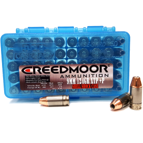 CREEDMOOR 9MM +P 124 GR XTP IN SHELL SHOCK CASES