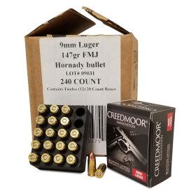 240 Ct 9mm Luger 147 Gr FMJ Creedmoor Pistol Ammo