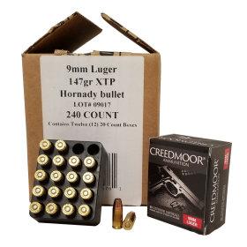 240 Ct 9mm Luger 147 Gr XTP Creedmoor Pistol Ammo