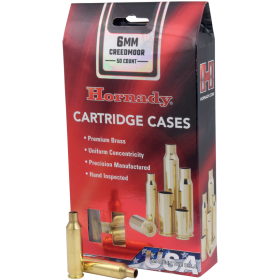 50 CT 6MM CREEDMOOR UNPRIMED HORNADY BRASS