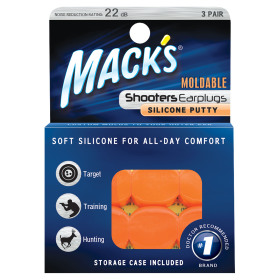 MACK'S SHOOTERS MOLDABLE PUTTY EARPLUGS