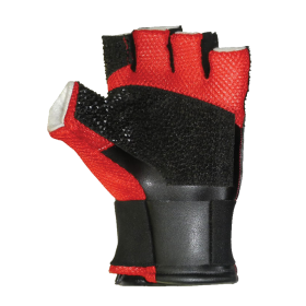 Creedmoor Red Mesh Open Finger Shooting Glove