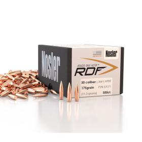 Nosler RDF 30 175 HPBT Bullets (500 Ct)