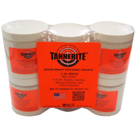 4 PACK OF 1/2LB TANNERITE TARGETS