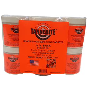 4 PACK OF 1/4LB TANNERITE TARGETS
