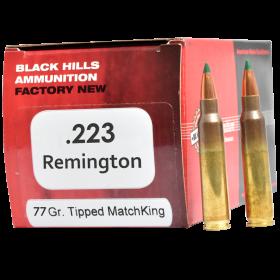 Black Hills Ammunition 223 77gr Sierra MK HP