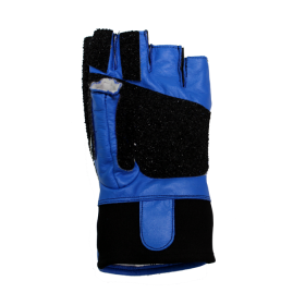 Creedmoor Topgrip Leather Black/blue Open Finger Glove
