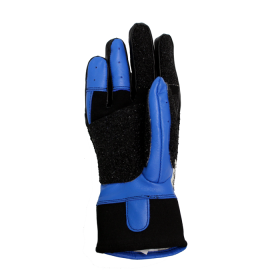 CREEDMOOR TOPGRIP LEATHER BLACK/BLUE FULL FINGER GLOVE