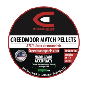 Creedmoor .177 Pellets By Vogel
