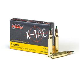 AMMO PMC X-TAC GRN TIP 5.56 NATO 62GR 20RD BOX
