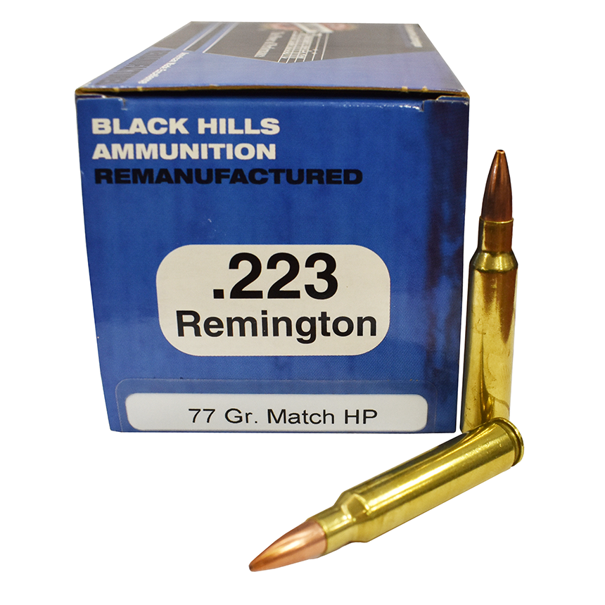 Black Hills Ammo .223 77 Gr. Reman