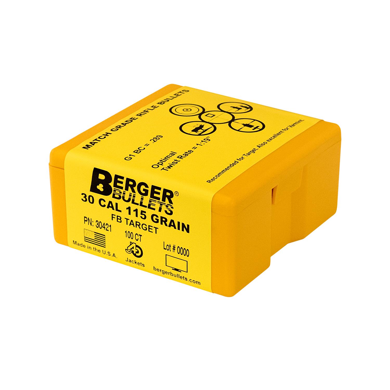 Berger 30 Cal 115 Gr FB Target Bullets (100 Ct)