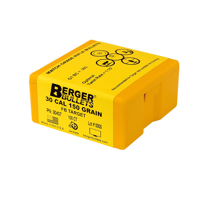 BERGER 30 CAL 150 GR FB TARGET BULLETS (100 CT)