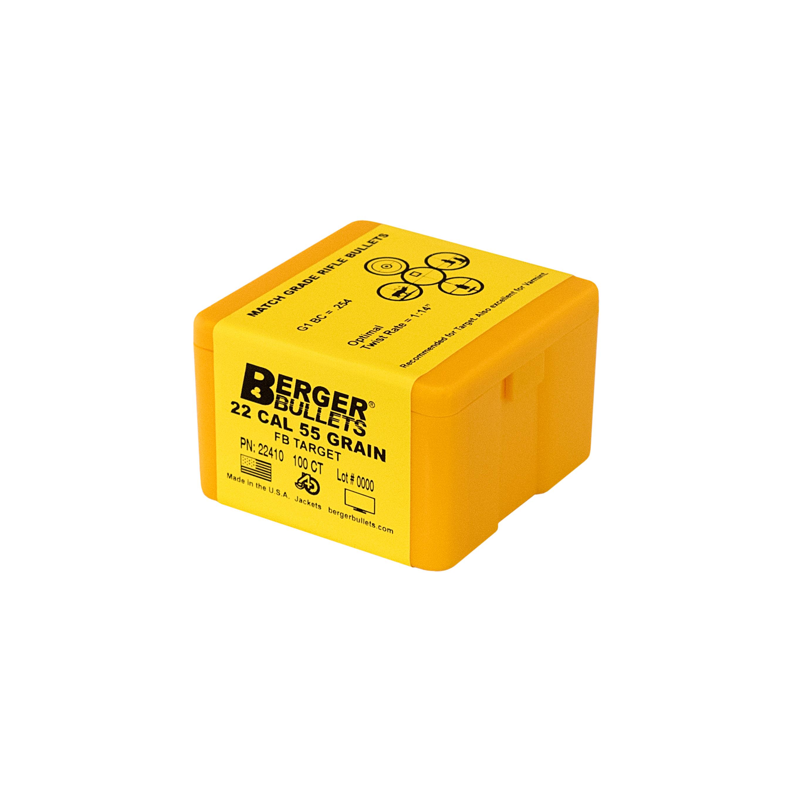 BERGER 22 CAL 55 GR FB TARGET BULLETS (100-CT)
