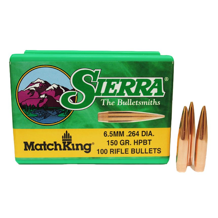 SIERRA 6.5MM 150 GR. HPBT MATCHKING BULLETS