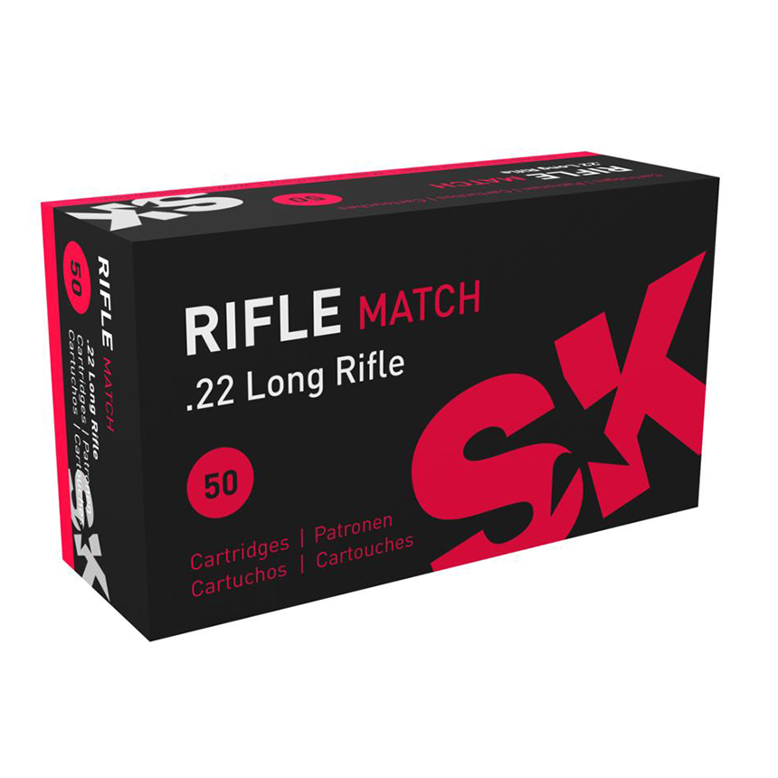 SK Rifle Match .22 LR Ammunition