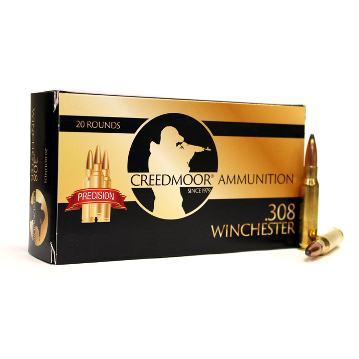 Creedmoor Ammunition .308 165 Gr. (Nosler Brass)
