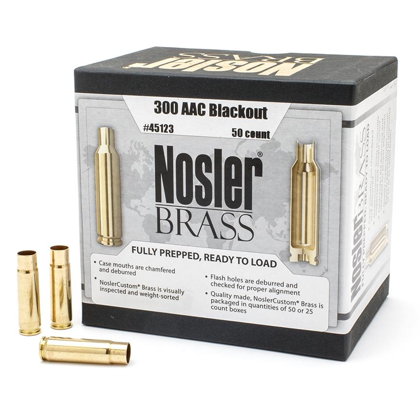 Nosler 300 AAC Blackout Brass (50 Ct)
