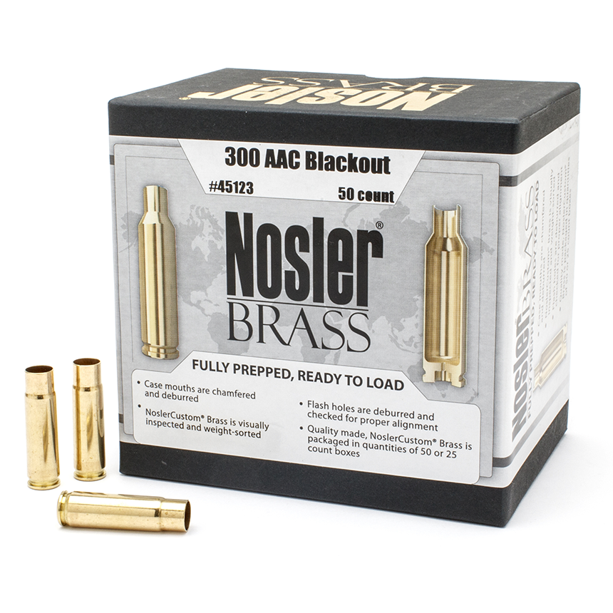 Nosler 300 AAC Blackout Brass (50 Ct)